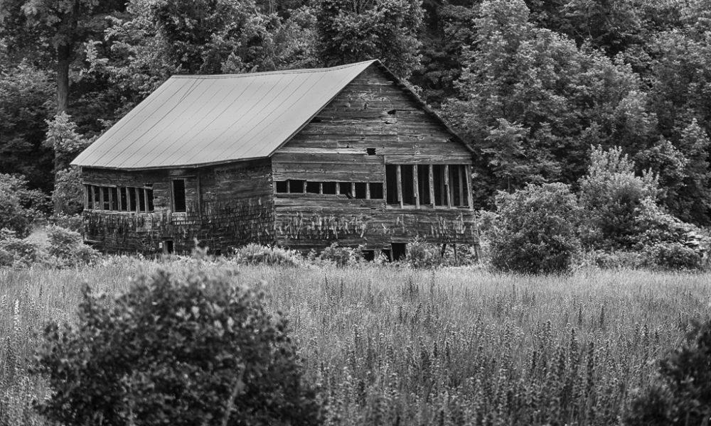 Old barn along a road in Carden Alvar