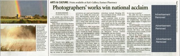 Photographers work wins national acclaim